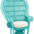 Turquoise Peacock Accent Chair