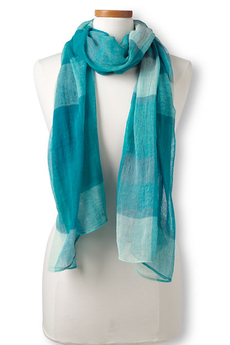 Turquoise Plaid Scarf