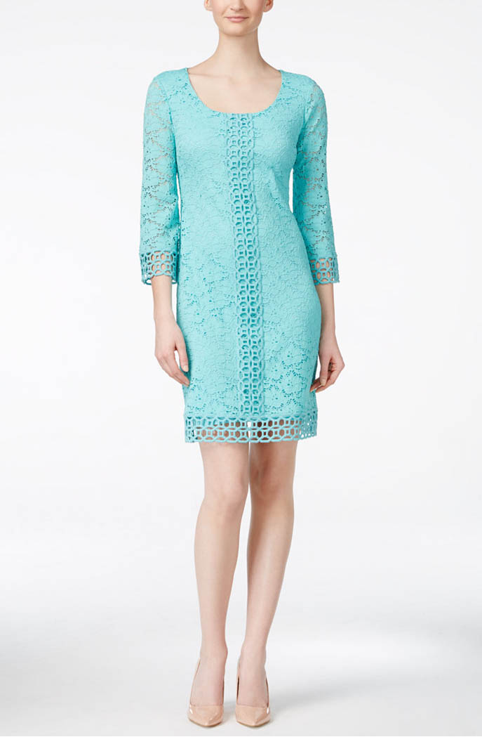 Alfani Crochet-Lace Shift Dress