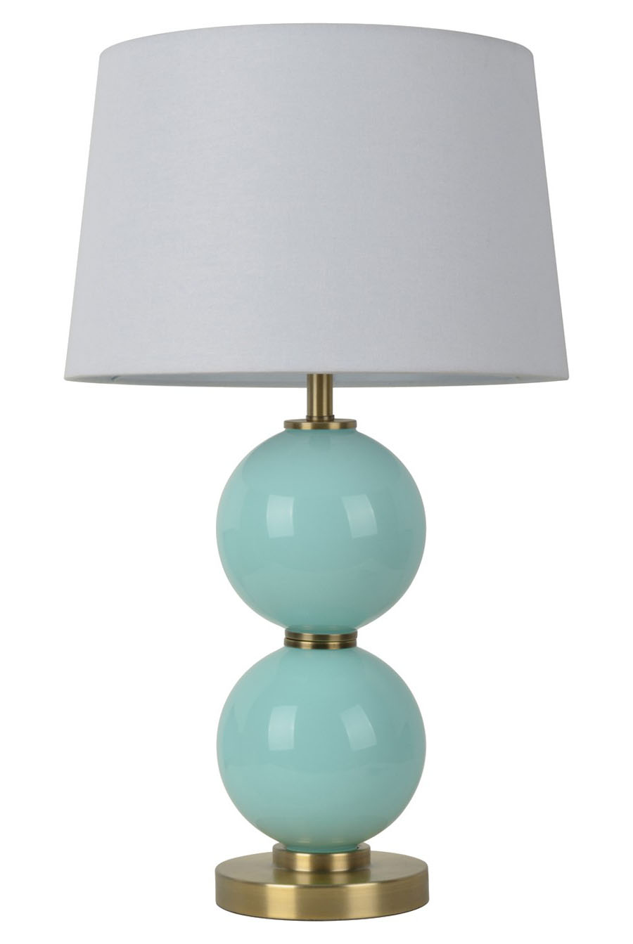 glass table lamp with touch on off everything turquoise. Black Bedroom Furniture Sets. Home Design Ideas