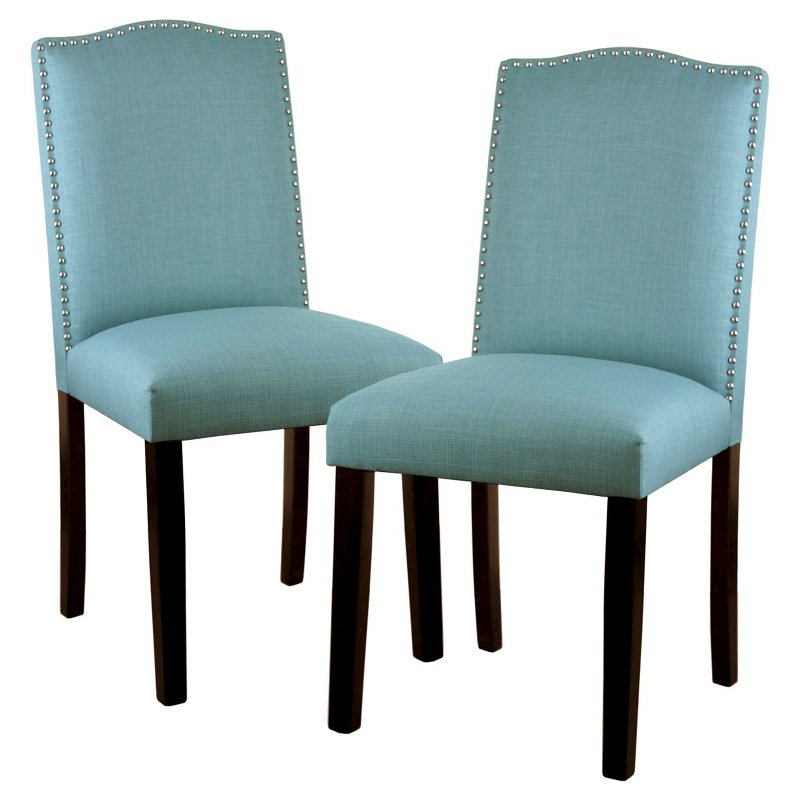 Camelot Dining Chair with Nailhead Trim Set of 2