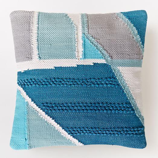 Chindi Colorblock Shag Pillow Cover