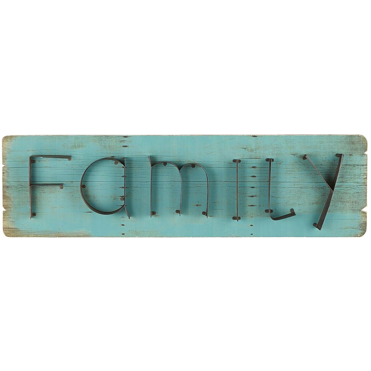Family Teal Wall Plaque