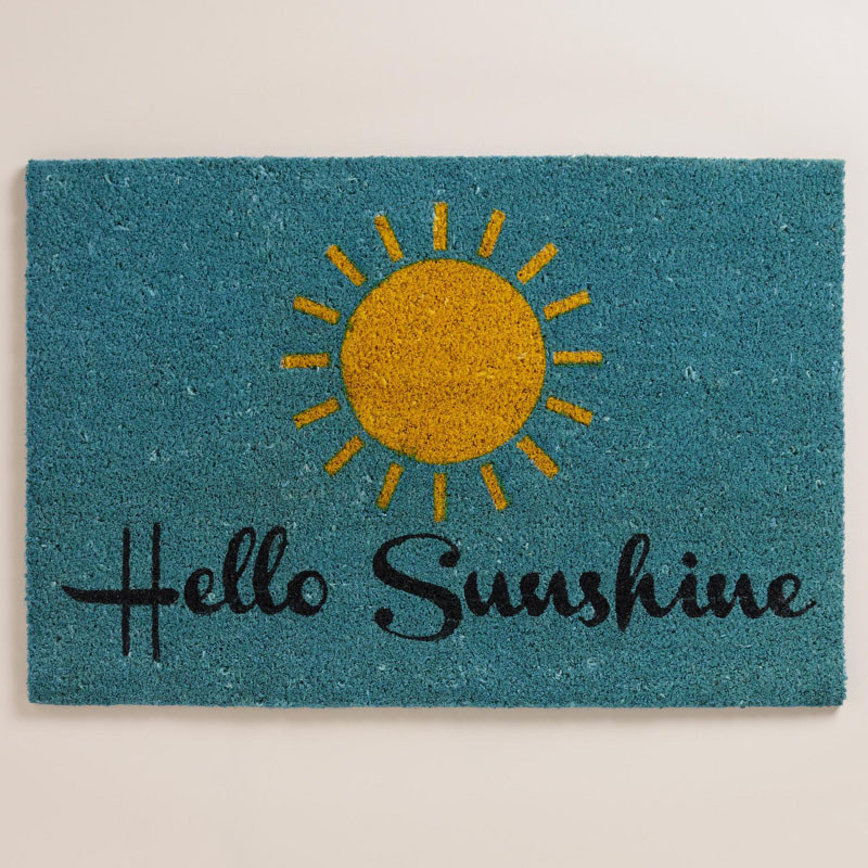 Hello Sunshine Coir Doormat