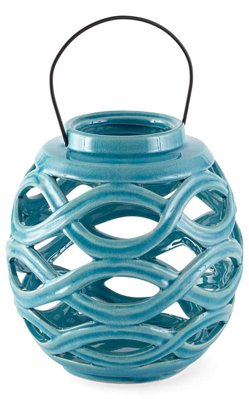 Outdoor Oasis Ceramic Lantern