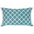 Tangier Aqua Ikat Pillow