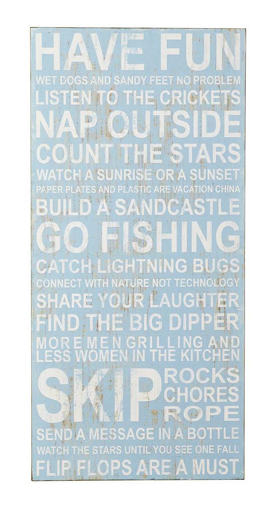 Vacation List Wall Art