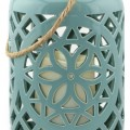 Ceramic Lantern & All-Weather Flameless Candle
