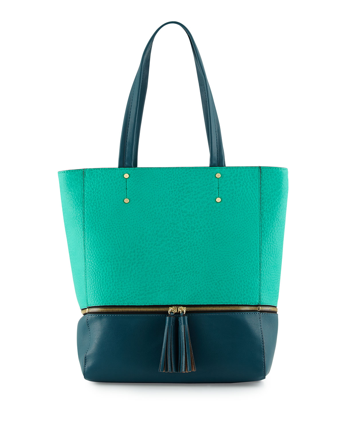 Dylan North-South Tote Bag in Green/Teal