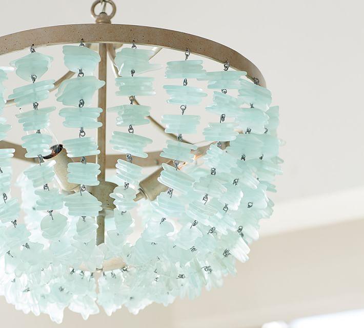 Luxury Sima Modern Floating Glass Bubbles Aqua Chandelier Enya Sea Glass Chandelier