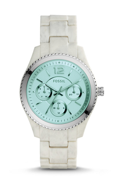 Fossil Stella Multifunction Shimmer Horn Acetate Watch