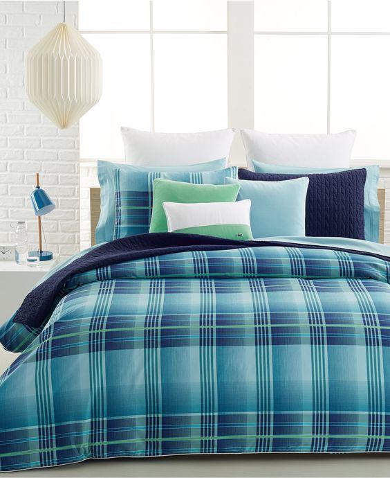 Lacoste Hudson Comforter and Duvet Cover Sets