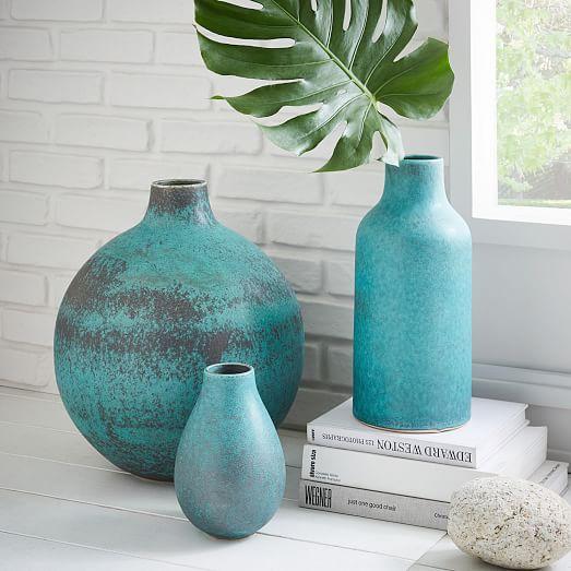 Rustic Ceramic Vases Everything Turquoise