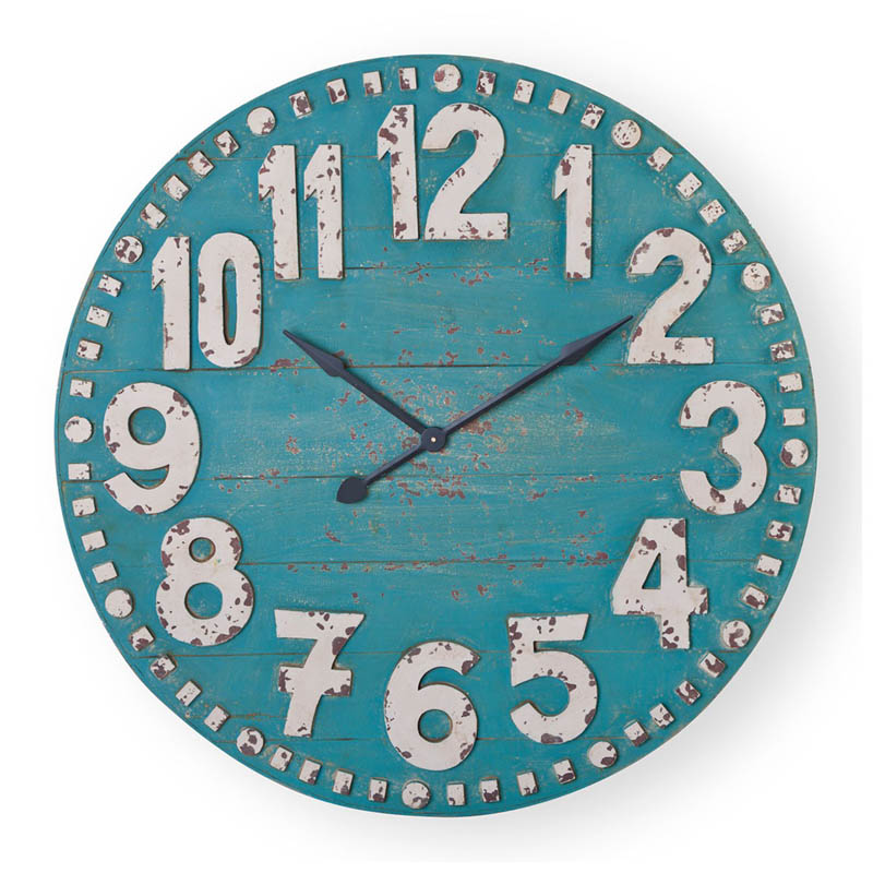 "Turquoise 36"" Clifford Clock"