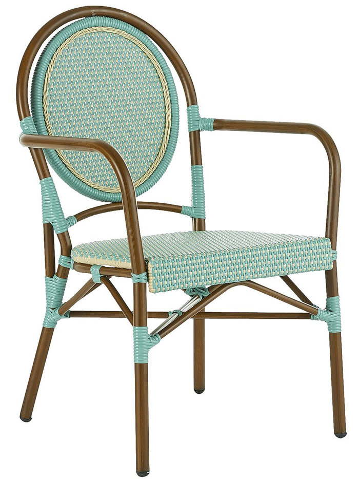 Turquoise Bistro Chair