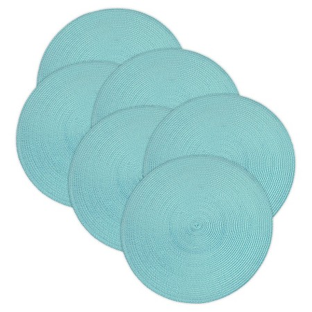 Aqua Woven Round Placemats