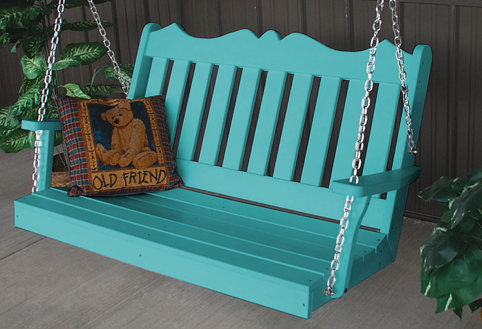 Aruba Blue Royal English Porch Swing