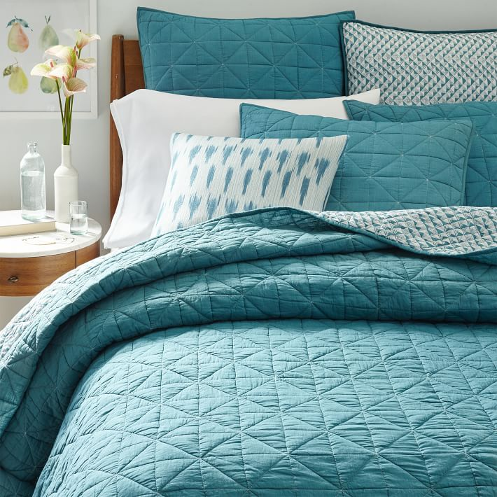 Blue Teal Nomad Coverlet Shams Everything Turquoise
