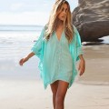 Caribbean Caftan Cover Up In Turquoise Sea