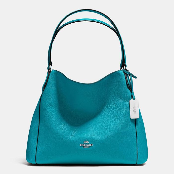 Coach Turquoise Edie Shoulder Bag 31