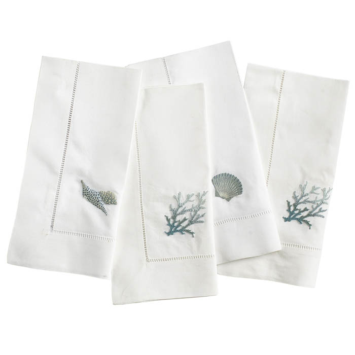 Embroidered Reef Napkins