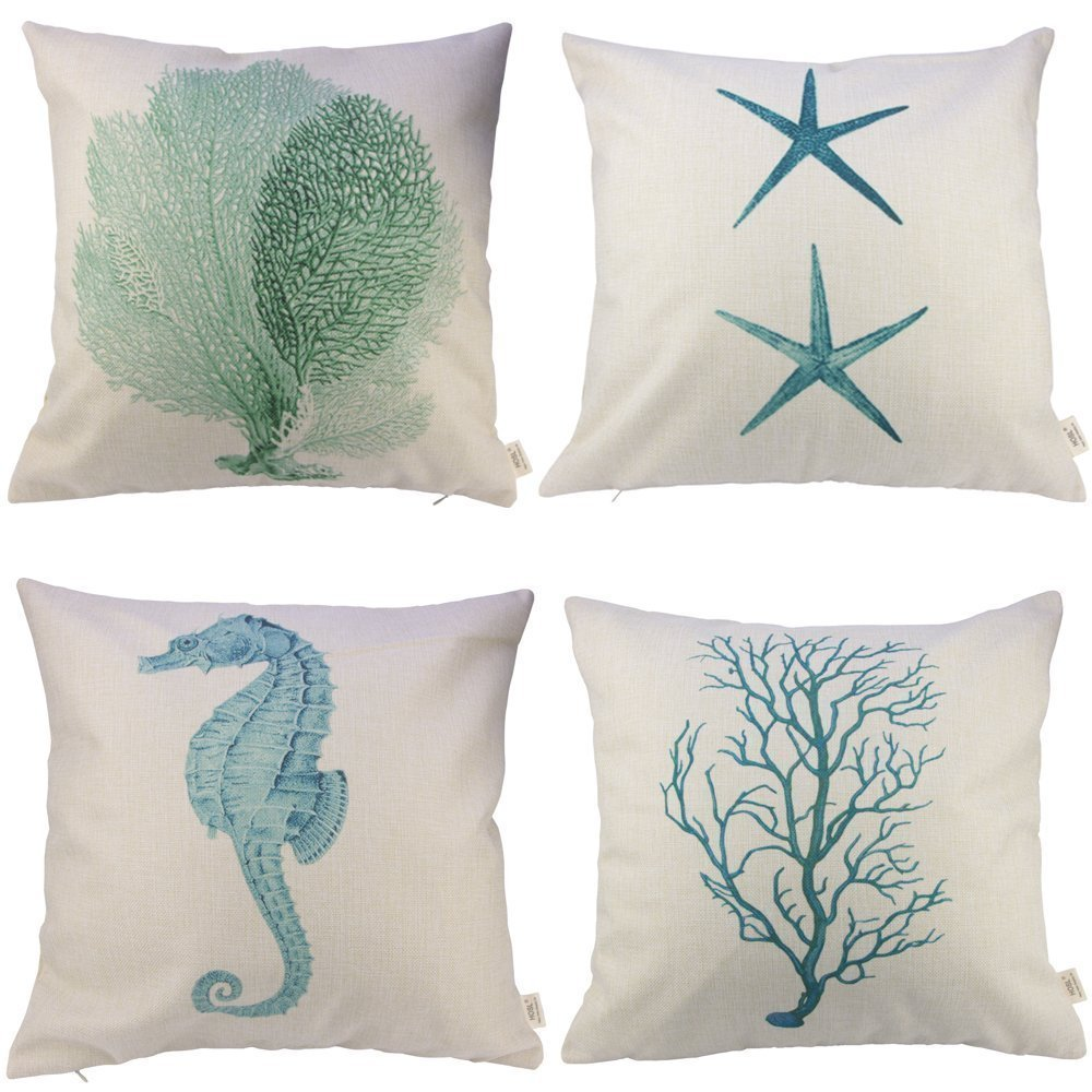 Ocean Park Theme Decorative Pillow Cover Case