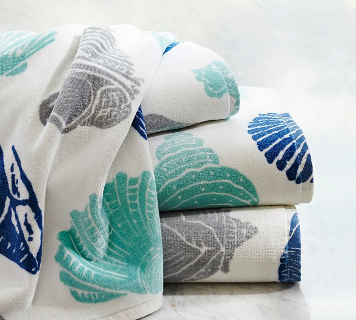 Seashell Organic Bath Towels
