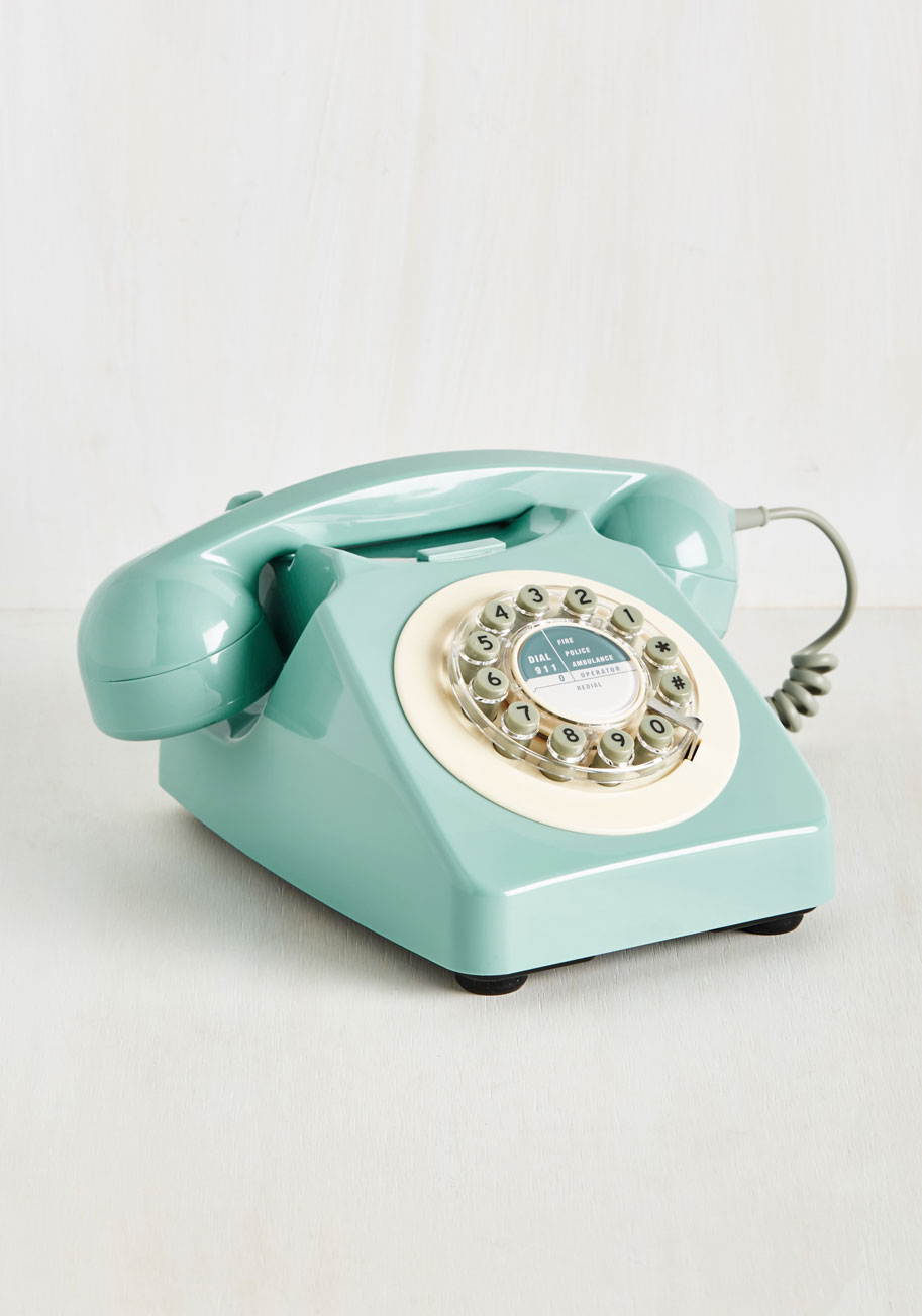 Aqua Blue Vintage-Inspired Phone