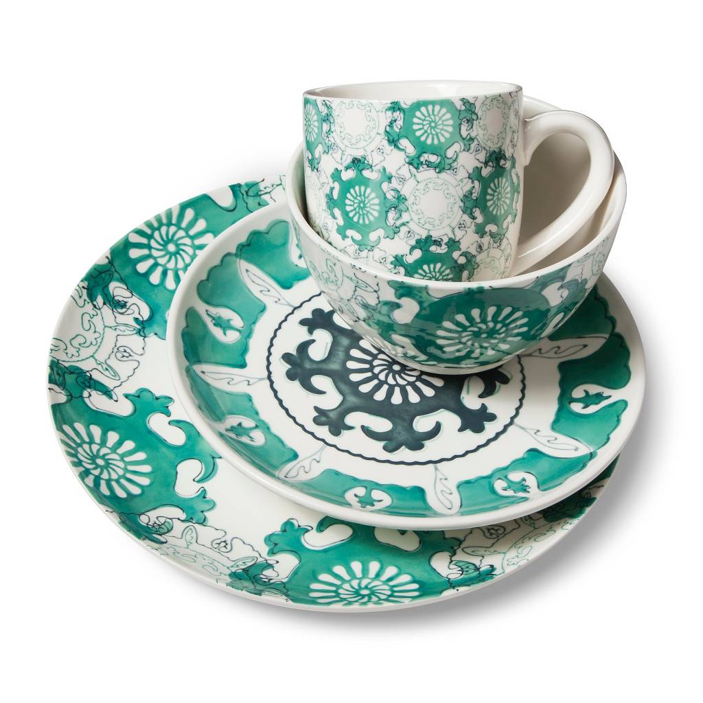 Aqua Medallion 16 Piece Dinnerware Set  sc 1 st  Everything Turquoise & Dinnerware | Everything Turquoise | Page 2