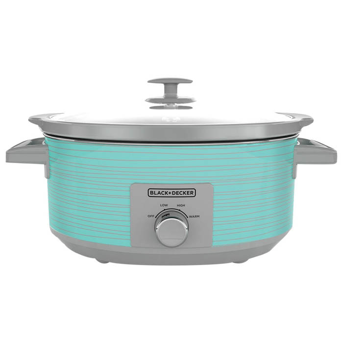 Black + Decker 7 Quart Teal Wave Slow Cooker