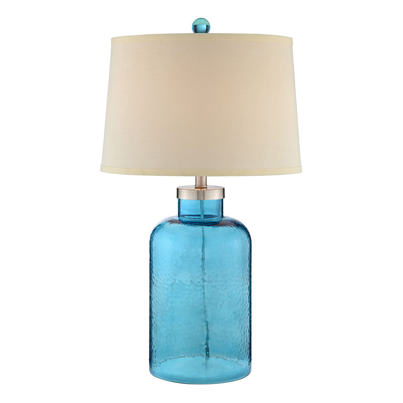 Catalina Turquoise Water Glass Table Lamp