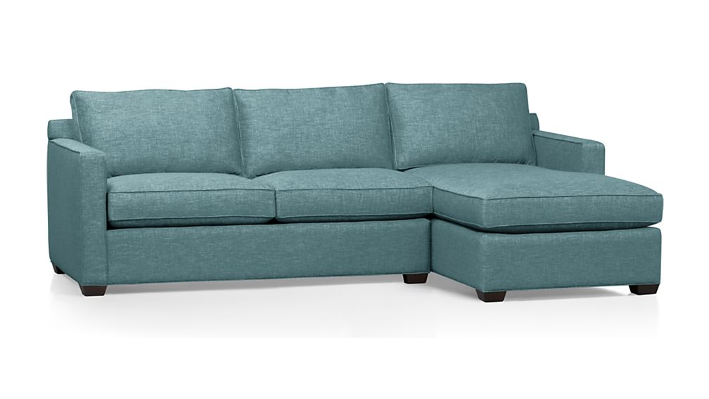 Davis 2 Piece Sectional Sofa in Teal