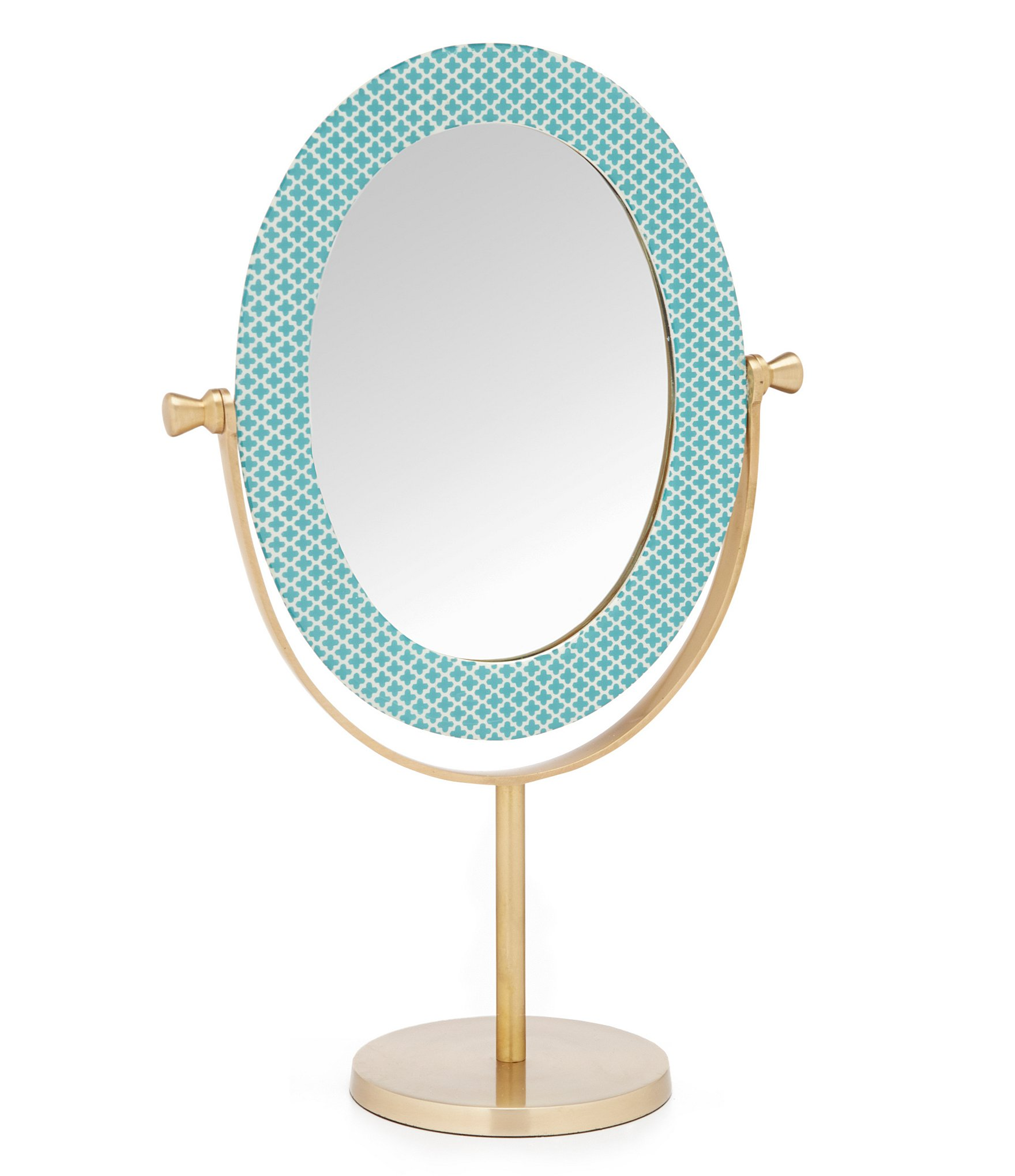 Fabric Tile Oval Mirror