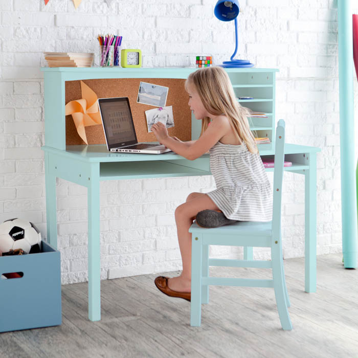 Guidecraft Teal Media Desk & Chair Set