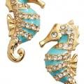 Kate Spade Paradise Found Seahorse Stud Earrings
