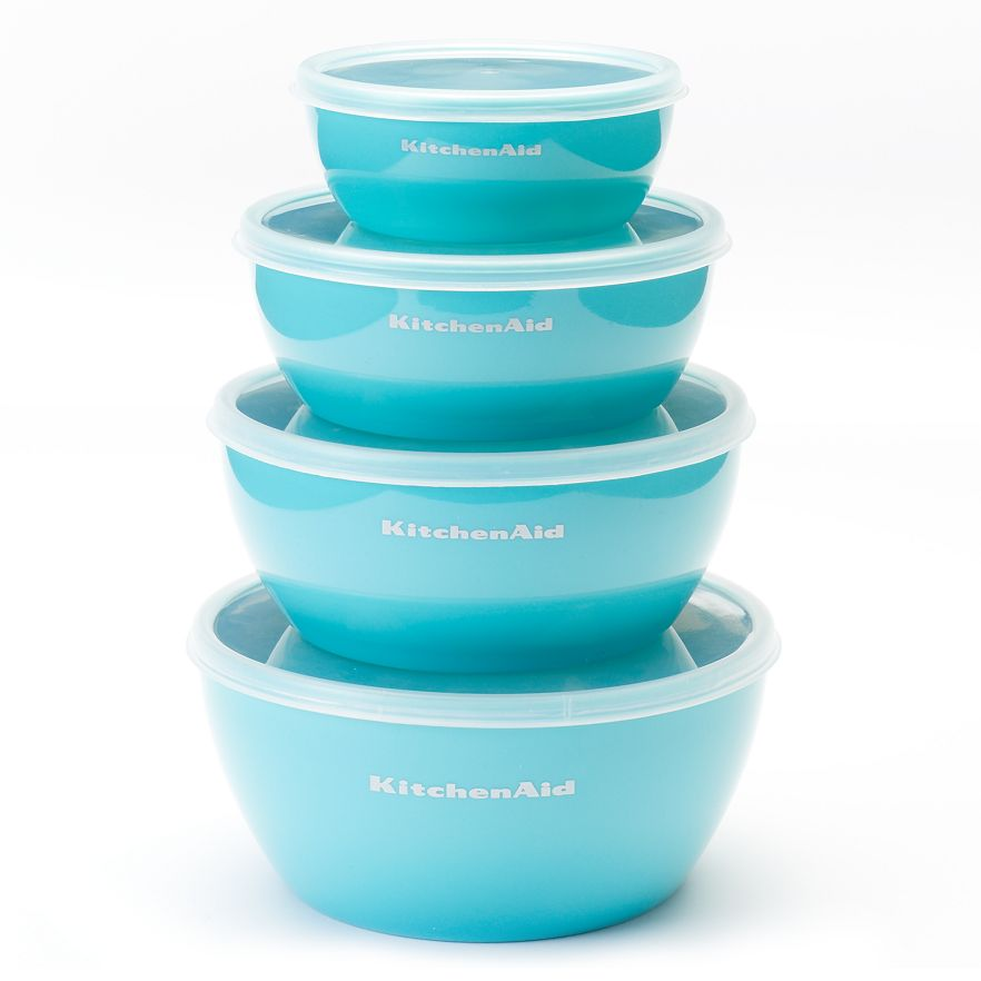 KitchenAid 4-pc. Nesting Prep Bowl Set in Aqua Sky