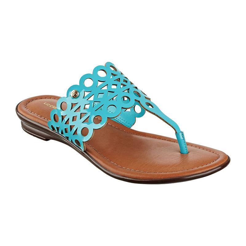Liz Claiborne Turquoise Jenesca Cutout Sandals