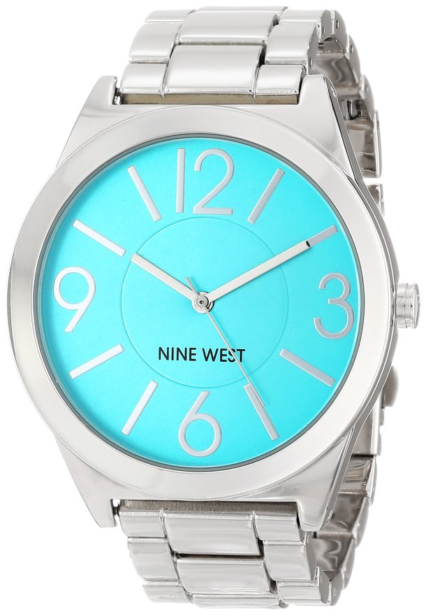 Nine West Turquoise Dial Silver-Tone Watch