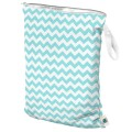 Planet Wise Teal Chevron Wet Diaper Bag