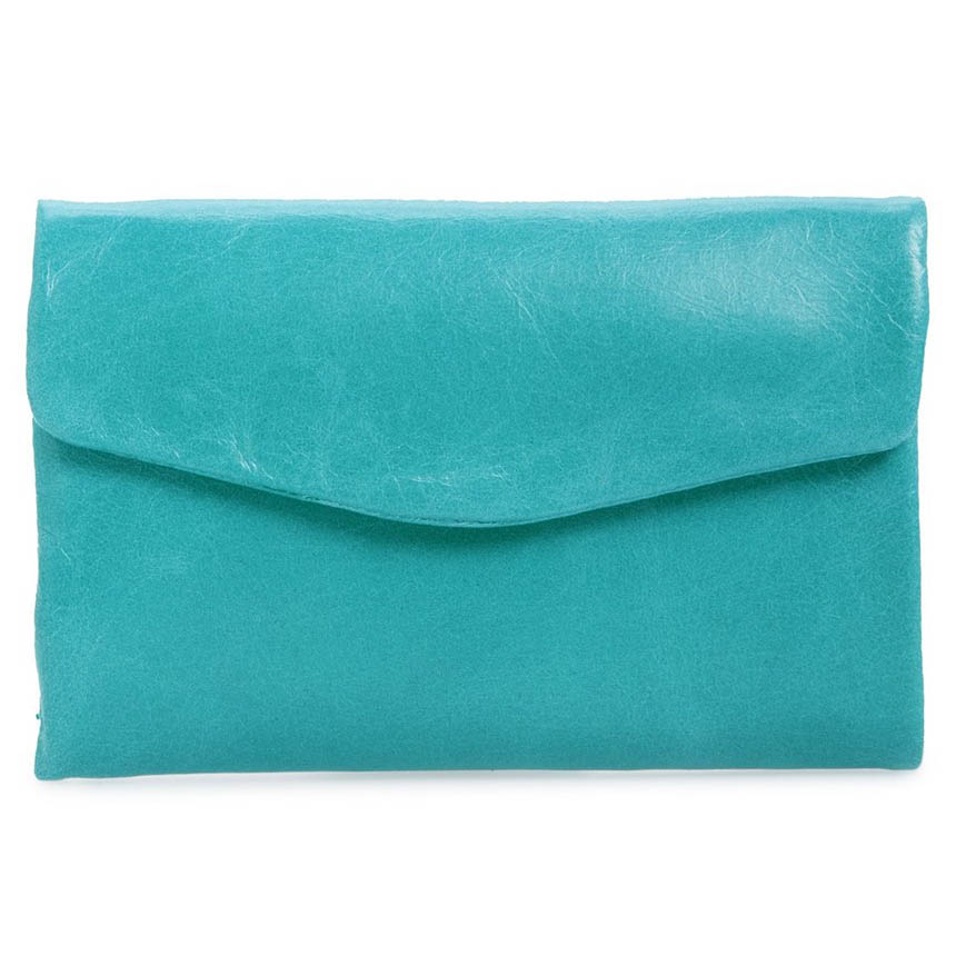 Turquoise Hobo Lacy Trifold Wallet