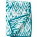 Turquoise Prism Diamond-Print Throw