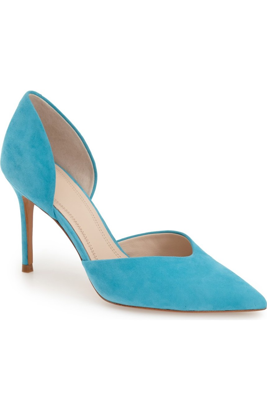 Turquoise Suede Marc Fisher LTD Tammy d'Orsay Pump