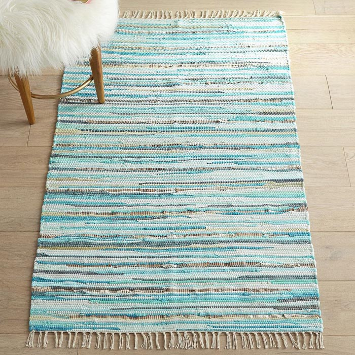 Chindi Jute Metallic Blue 3x5 Rug