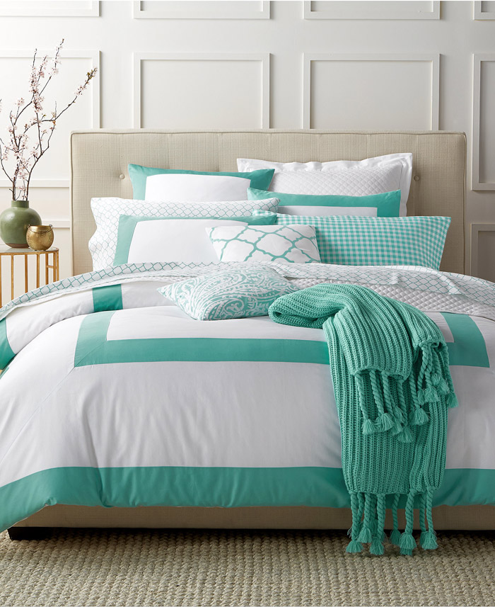 Colorblock Teal Bedding Collection Everything Turquoise