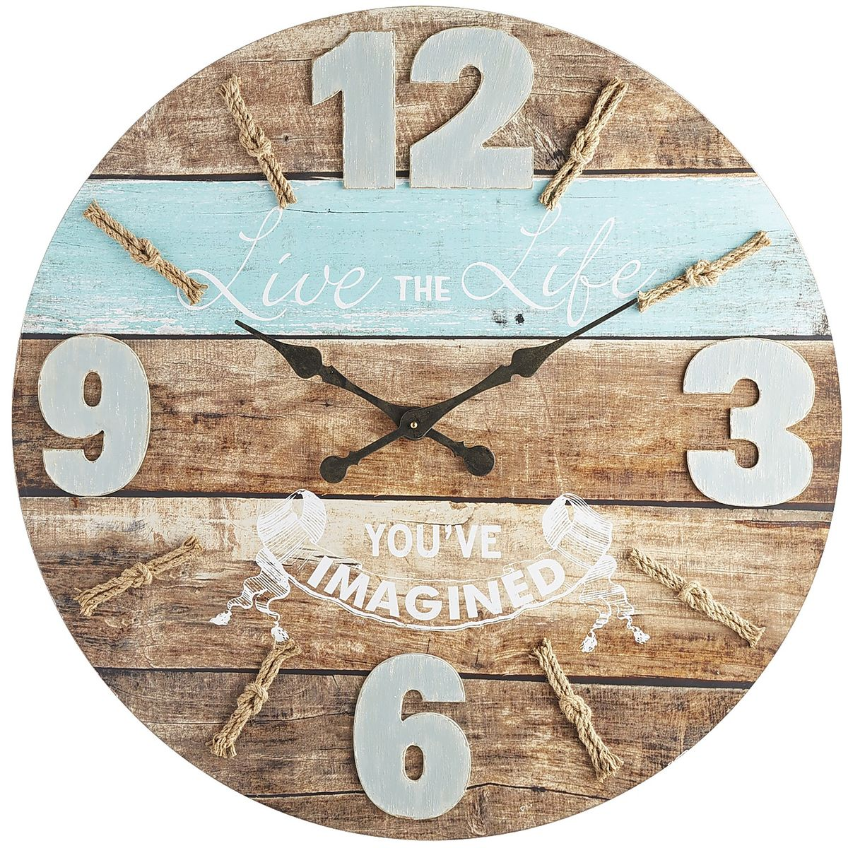 Oversize Live the Life Wall Clock