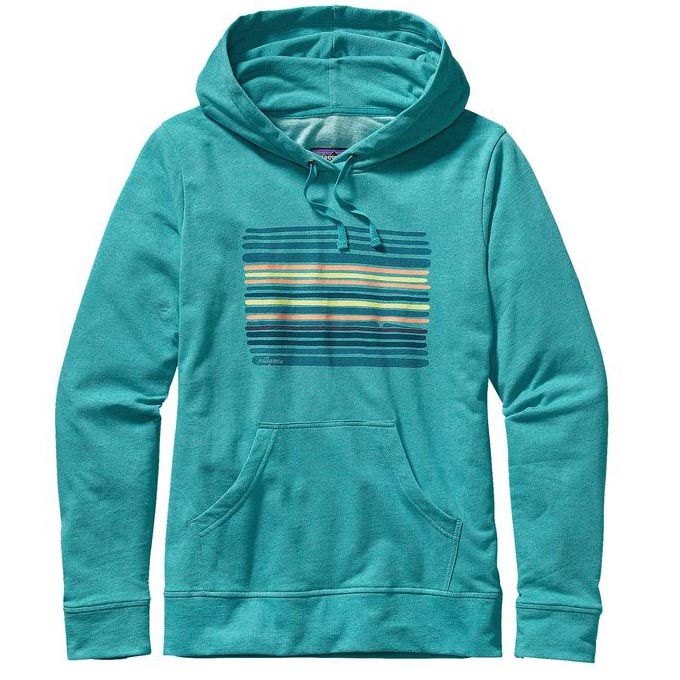 Patagonia Turquoise Horizon Line-Up Hooded Sweatshirt