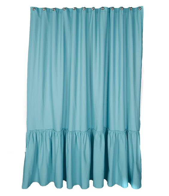 Posh Ruffled Shower Curtain