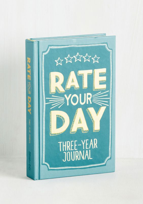 Rate Your Day 3 Year Journal
