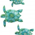 Sea Turtle Metal Wall Art Set