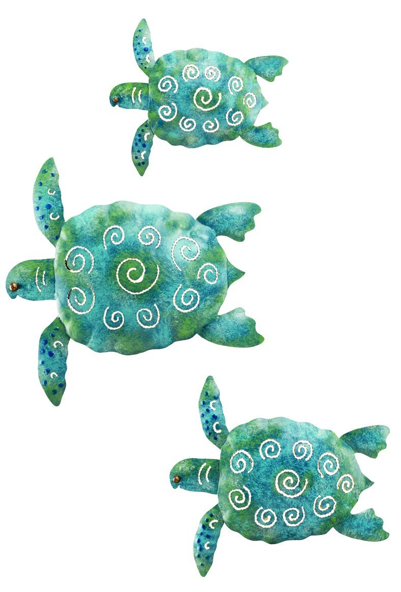 Sea Turtle Metal Wall Art Set